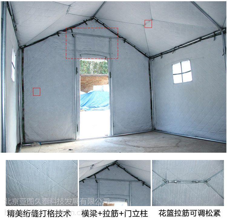 河北户外施工民用帐篷养蜂人帐篷免搭建迷彩防风防雨防水保暖一居室