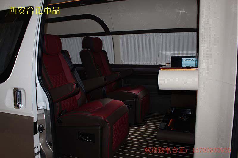 丰田海狮内饰改装 商务车改装座椅电动小吧台电视优惠价格套餐