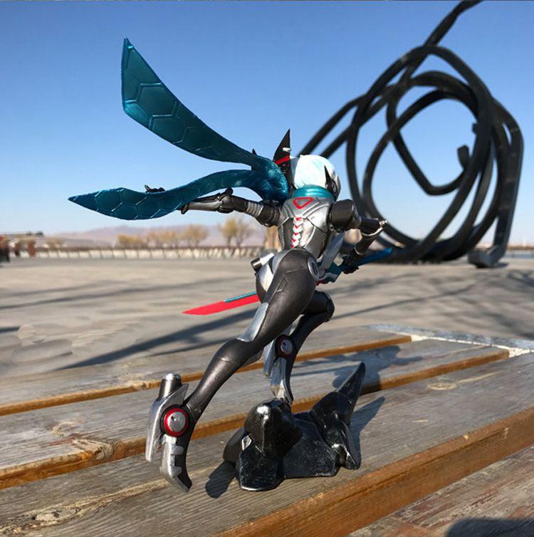 工厂定制塑胶玩具 LOL英雄角色剑圣亚索桌面摆件手办模型儿童礼品公益活动