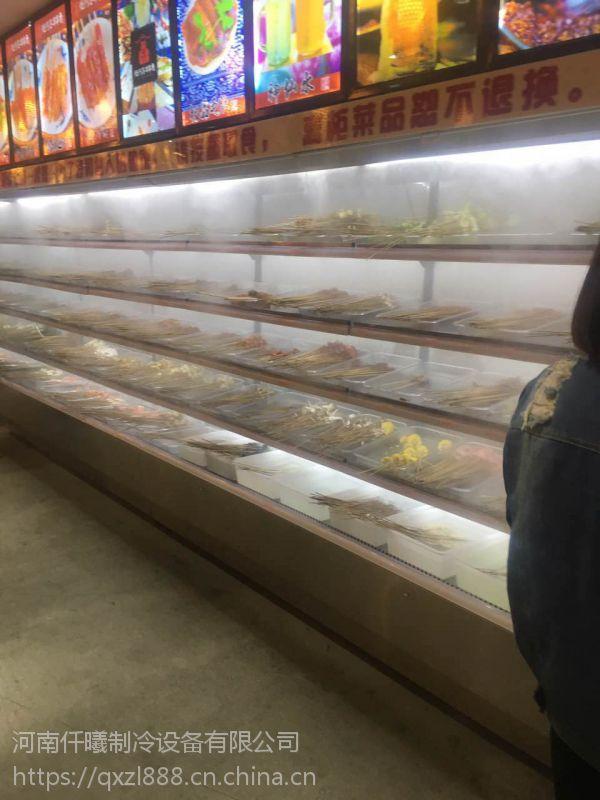 郑州专业定做不锈钢火锅菜品柜,火锅喷雾加湿风幕柜哪个牌子好