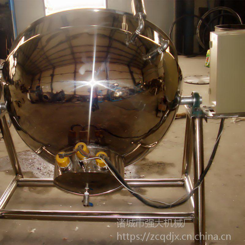 强大生产羊肉汤带搅拌熬煮夹层锅 【可倾斜出料】