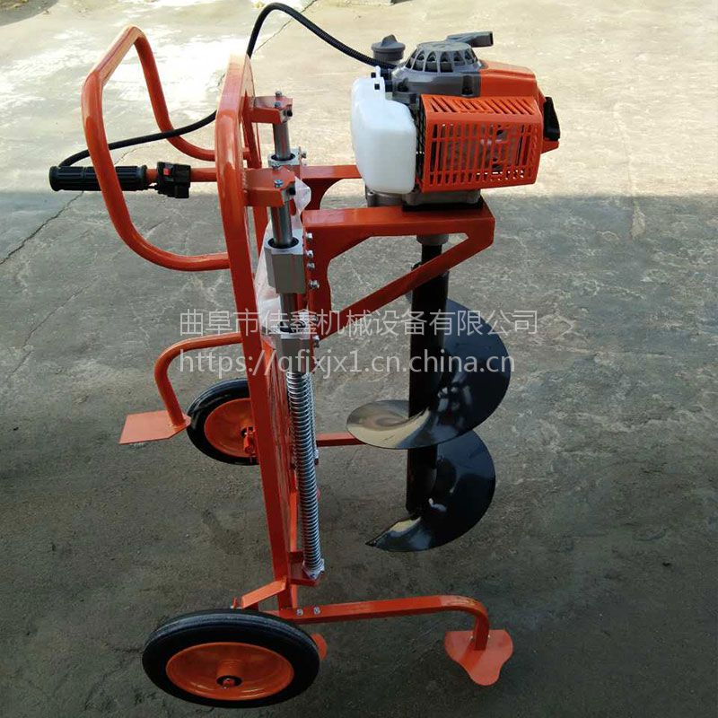 手提式汽油挖坑机价格 新款佳鑫打眼钻洞机 大型打孔机