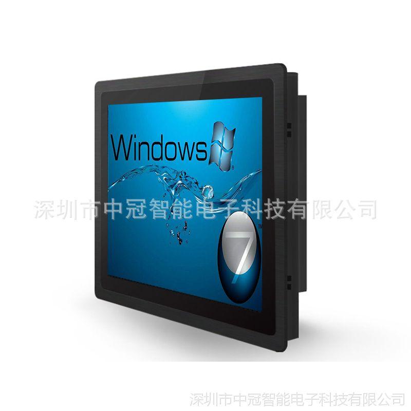 19寸工业超薄IP65电阻触摸一体机 平面电脑一体机 低功耗无风扇