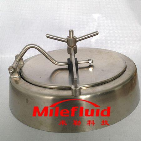 卫生级椭圆喇叭口人孔,304不锈钢椭圆喇叭口人孔生产厂家
