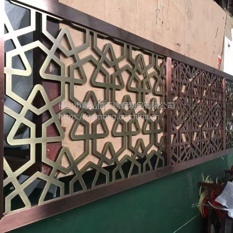 佛山铝雕刻厂 专业加工古铜拉丝铝板屏风隔断 各种款式定做