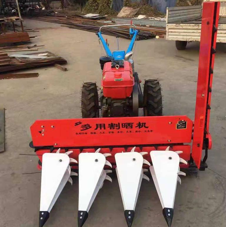 175型号蚕豆收割机 设计合理的割晒机 柴油8马力割晾机 润众