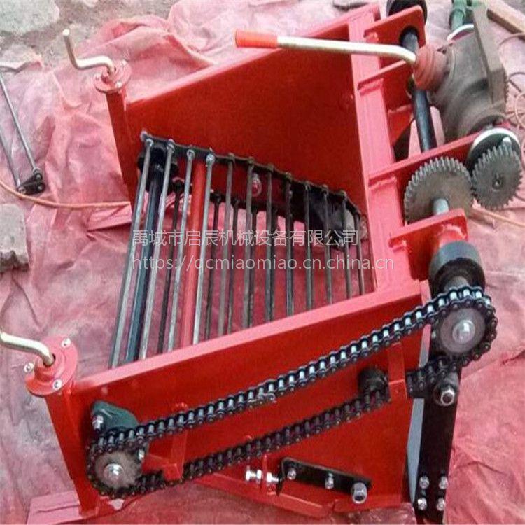 80公分手扶土豆收获机配套手扶拖拉机刨大蒜的农机