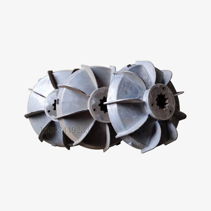 搅拌机提升机电机风叶制动轮 5.5kw电机刹车风叶 铝制电机刹车轮刹车鼓配件