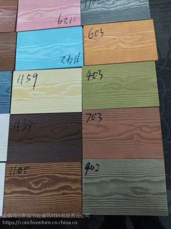 纤维水泥木纹挂板—轻钢别墅外墙体材料