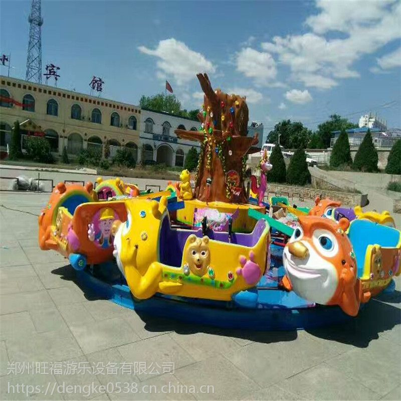 金昌市大型豪华游乐场儿童炫彩设备熊出没水陆战车豪华轨道火车