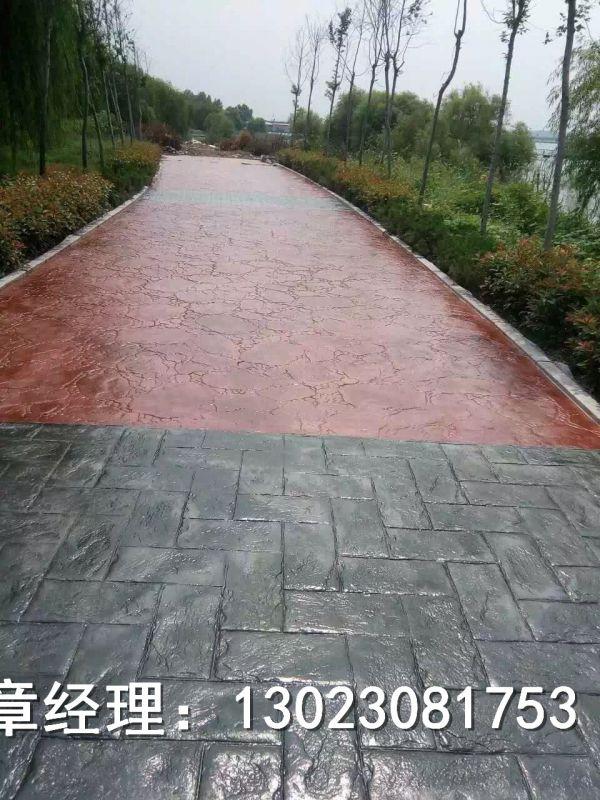 广州水泥压花地坪造型独特