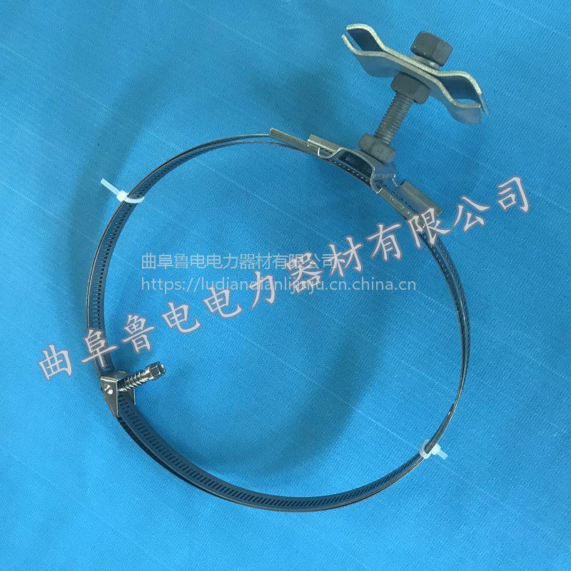 OPGW光缆引下卡具 杆用引下线夹山东厂家 曲阜鲁电