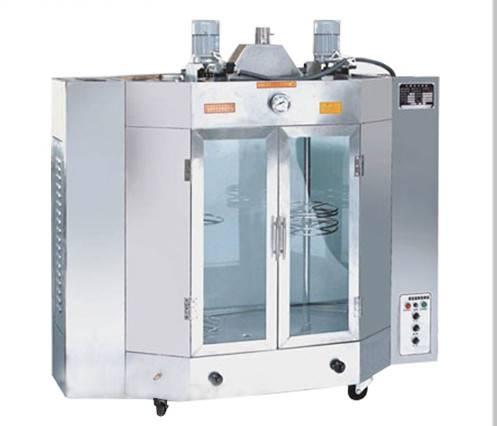 北京电热旋转烤鸭设备|商用电热自动旋转烤箱|全自动立式旋转烤禽箱