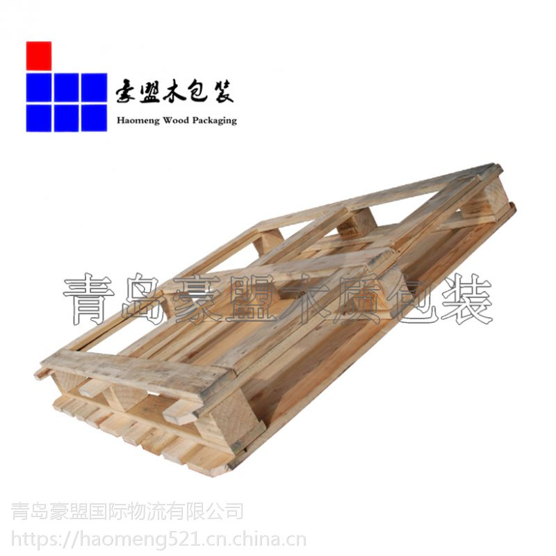 物流专用木托盘青岛厂家供应1.1m胶合板托盘送货上门