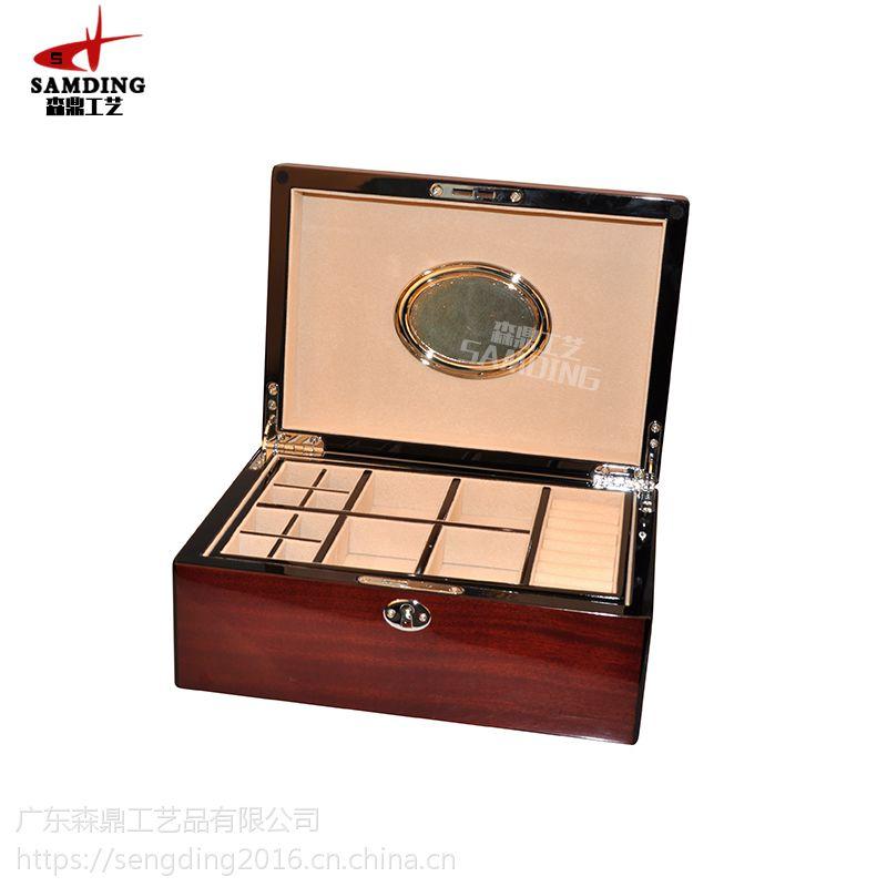 木制珠宝盒厂家定做,木制珠宝盒报价,木制珠宝盒订制-森鼎工艺