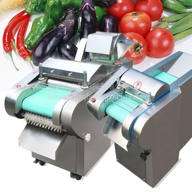 鲜豆角切段机厂家 大型食堂用多功能切菜机 启航牌辣疙瘩切丝机