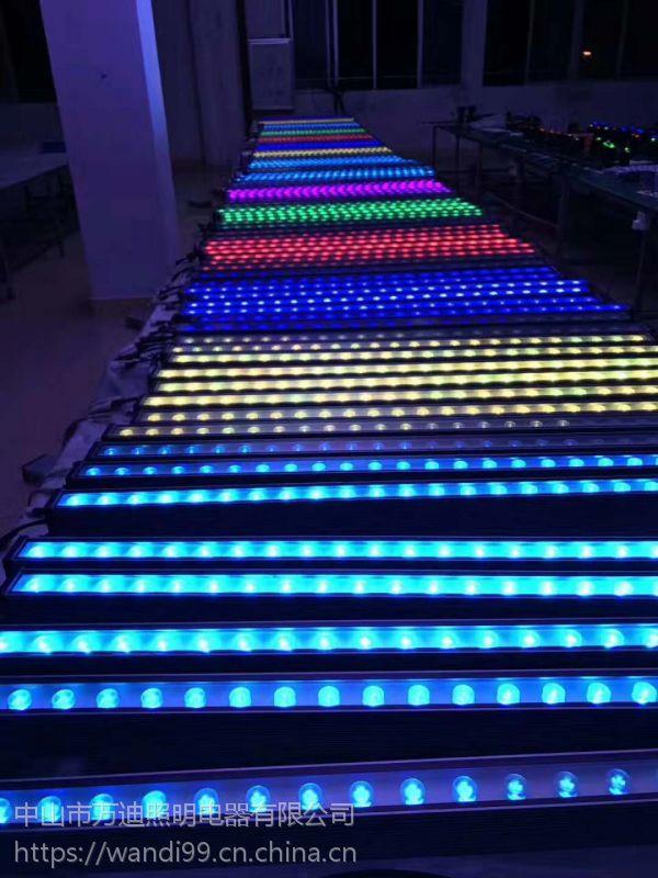 广顺销质保2年铝材24WLED2700K洗墙灯 LED单色铝材24W2700K洗墙灯