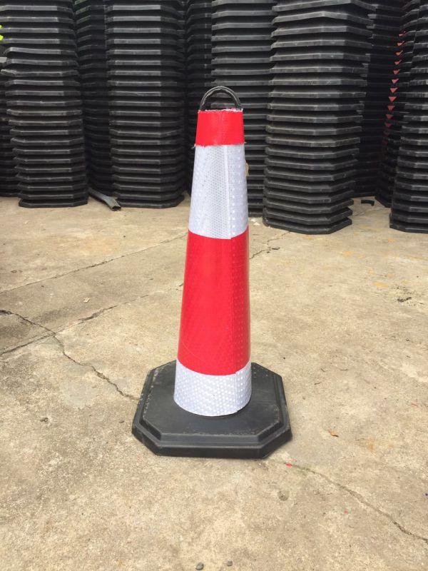 70cm橡胶路锥反光锥雪糕桶 50cm安全路障锥警示柱圆锥筒交通设施