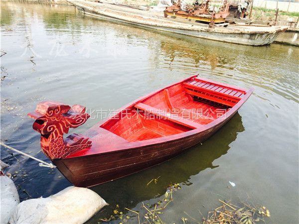 红木工艺品 中式一帆风顺帆船小木船 龙船