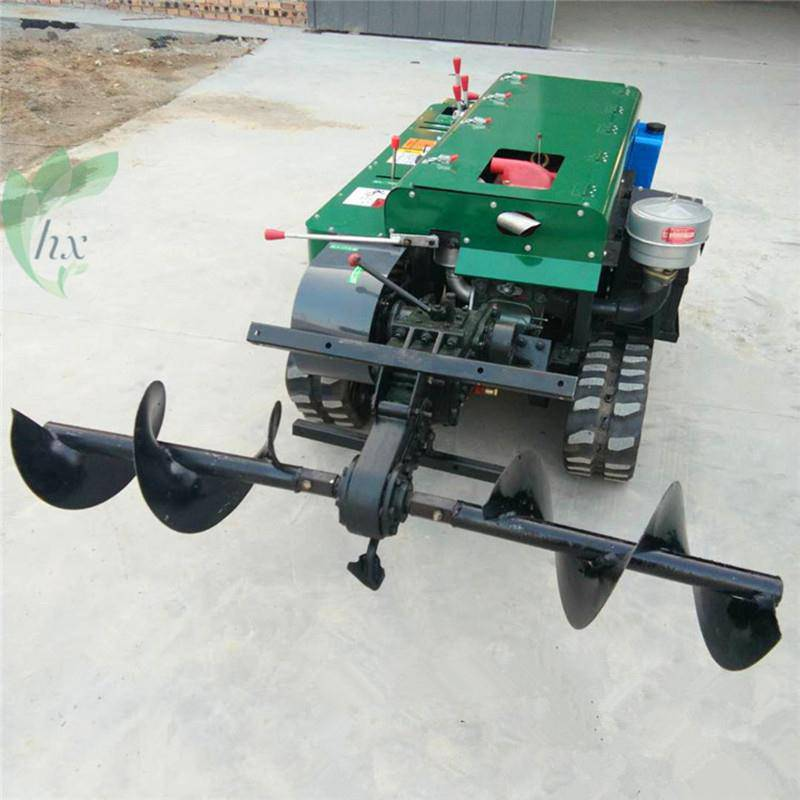 果园开沟施肥机的施肥深度 富兴履带式旋耕除草机图片