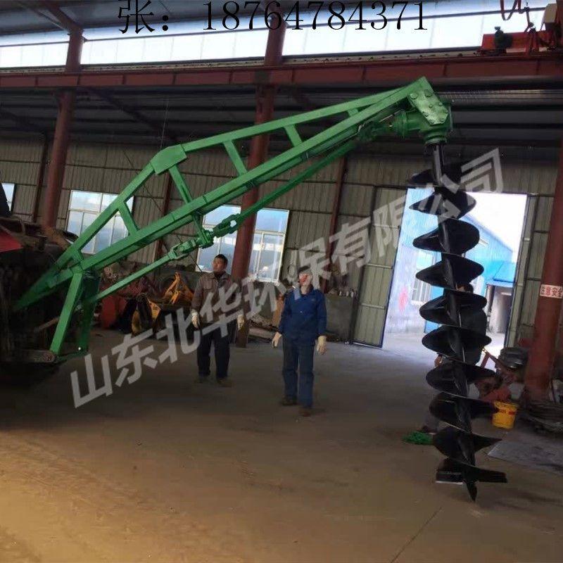 山东北华硬土质冻土挖坑机 耐磨损螺旋钻头挖坑机 植树造林拖拉机地钻机