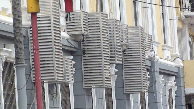 空调外机罩_铝合金空调外框_空调罩生产厂家