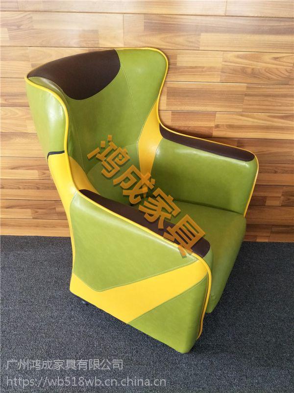 佛山南海区办公室时尚沙发报价网吧沙发家具网咖沙发椅生产厂家-鸿成家具