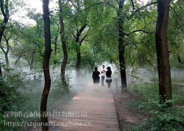 别墅园林景观喷雾系统 雨雾加湿除尘品牌公司 案例(济源|明港|鄢陵|禹州|长葛|灵宝|杞县)
