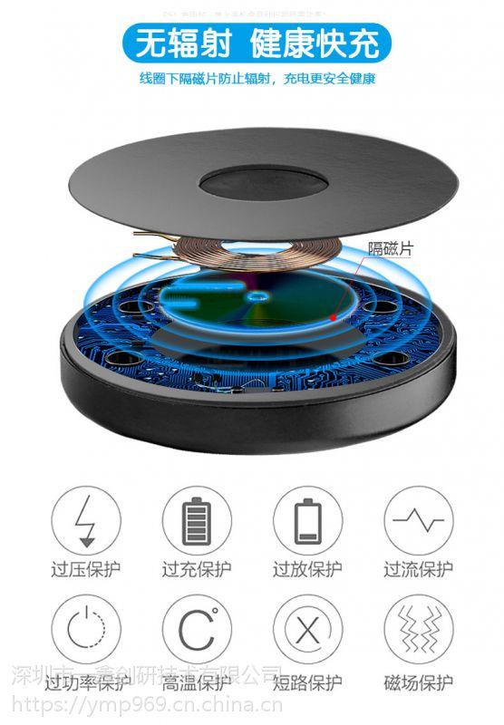 无线充电器车载手机支架批发定制一鑫创研QI无线充电器厂家