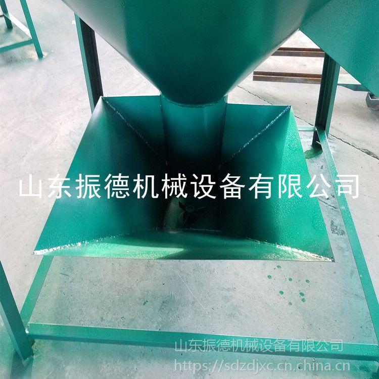 立式自吸式搅拌机 多规格粉碎玉米饲料混合机 自吸式粉碎搅拌机 振德牌