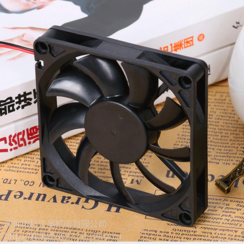 厂家直销 8015直流散热风扇 含油超薄 5V12V24V静音大风量CPU风扇