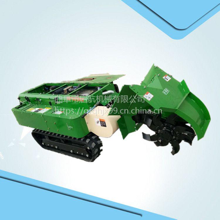 果园履带式开沟追肥机 28马力开沟回填机 启航果树土杂肥除草机