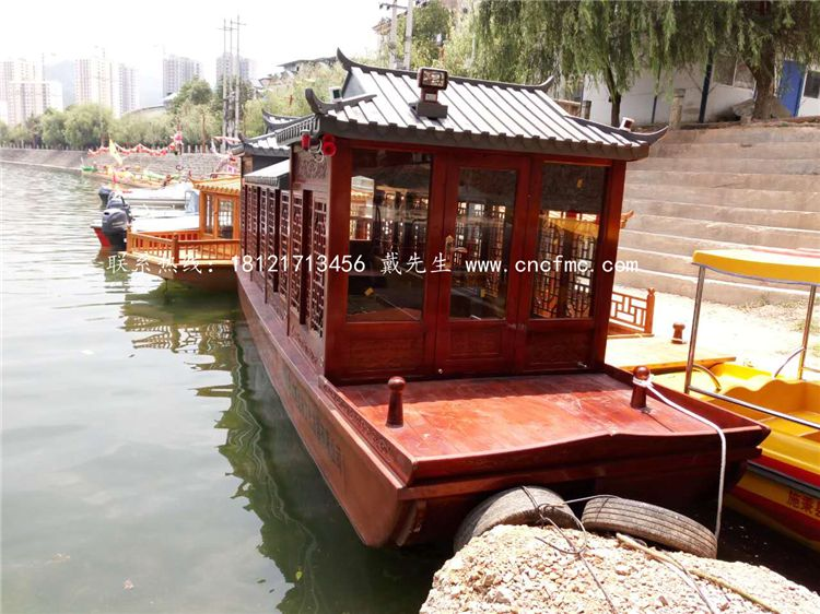 出售南京12米水上观光船 景区画舫船 农家乐度假宾馆休息船