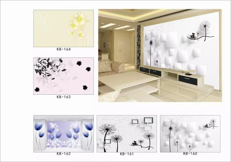 年轻人房间客厅电视背景墙用什么图好 3D8D电视背景壁画墙布厂家