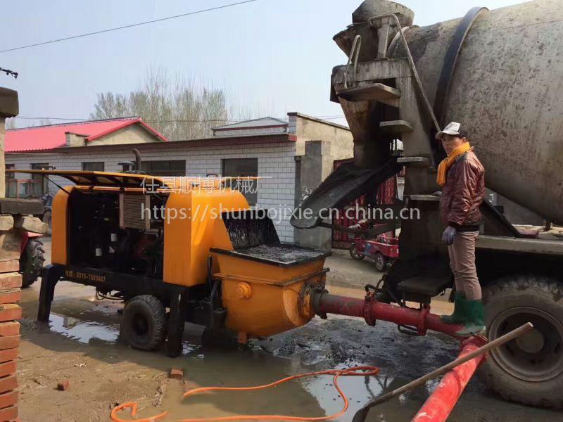 热销30型打地暖小型混凝土输送泵