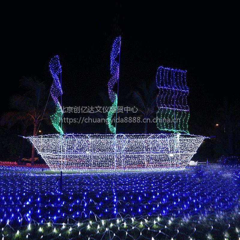 2018圣诞树节庆灯饰画春节灯画LED灯画图案灯承接灯饰画工程