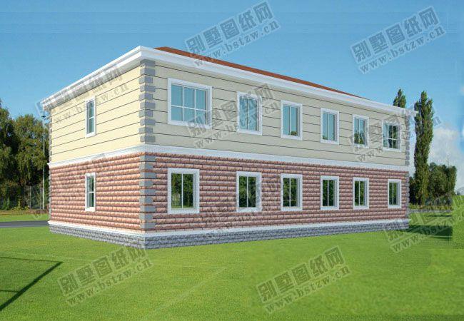[永云图纸]AT291二层带阁楼图纸别墅结构大气二层双拼家居设计别墅复式别墅图片