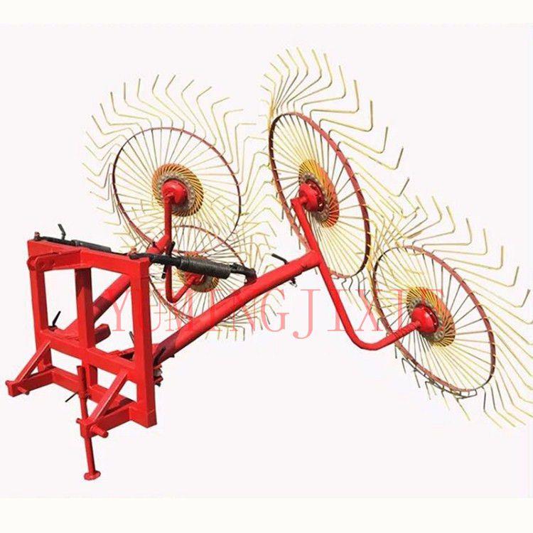 禹鸣9LG指盘式搂草机搂玉米小麦水稻秸秆牧草苜蓿耙子圆盘搂草机厂家直销