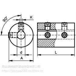 固定螺丝联轴器 TR, 钢, 有键槽,专业进口联轴器,胀套