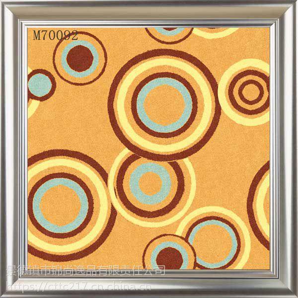 彩绘瓷砖 耐磨陶瓷砖 个性地板砖 酒店装修陶瓷地毯砖