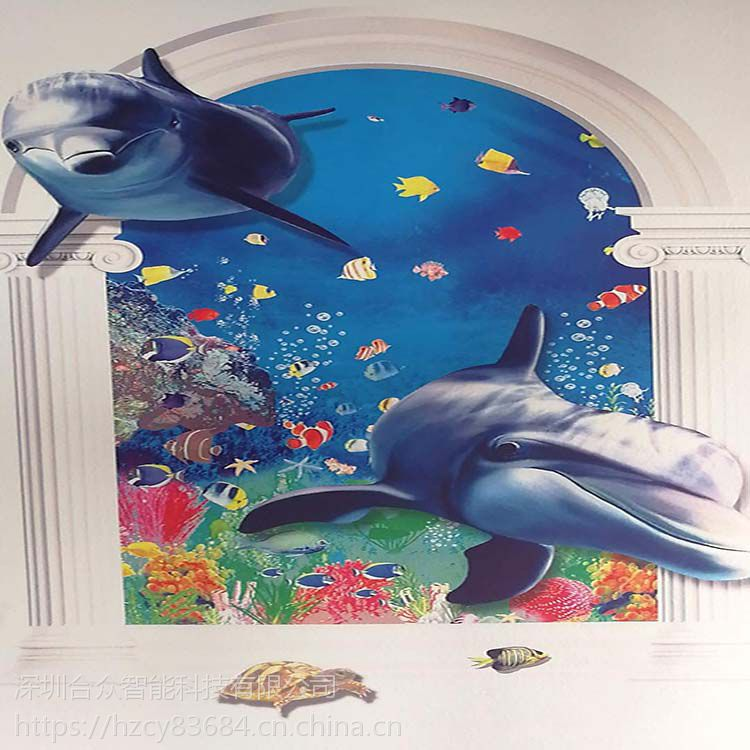 3d室内背景墙墙体喷绘制作机木板玻璃瓷砖壁画壁纸uv立体喷墨打印机