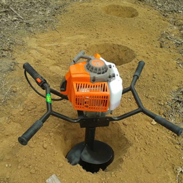 硬土质挖坑机 汽油挖坑机 圣鲁牌