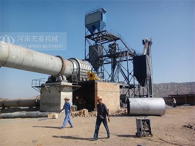 回转窑2.5米60米的窑全套设备有多重,抚顺烧制石灰流程