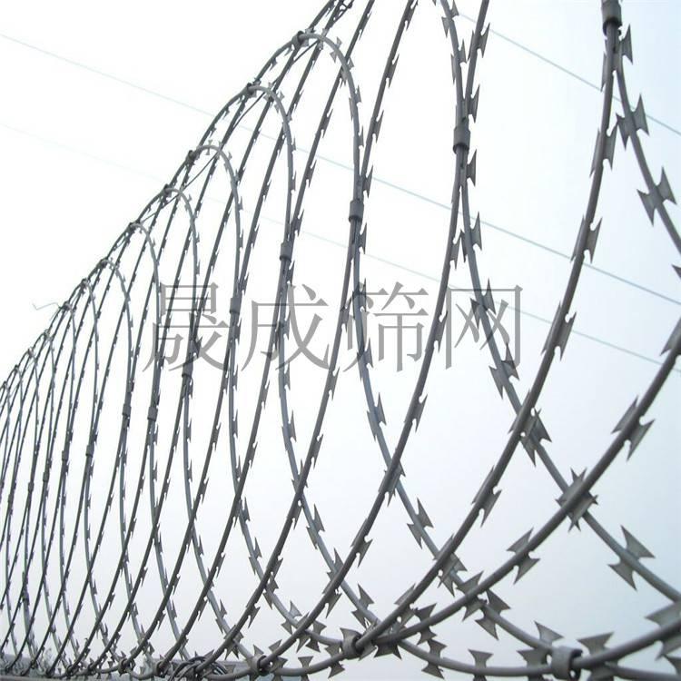 海南刀片刺绳批发安装 琼海刀刺丝隔离网规格现货 304/镀锌刺丝滚网