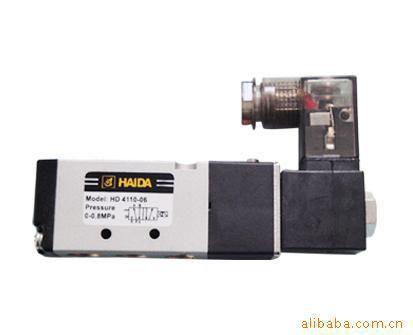 常用线圈电压:dc12v ;dc24v;ac110v  ;ac220v 该款海达气动电磁阀图片