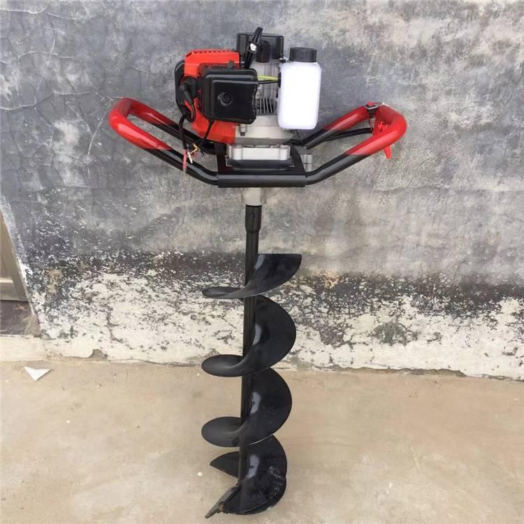 长春汽油便携式挖坑机 小型手提打坑机 立柱挖坑机