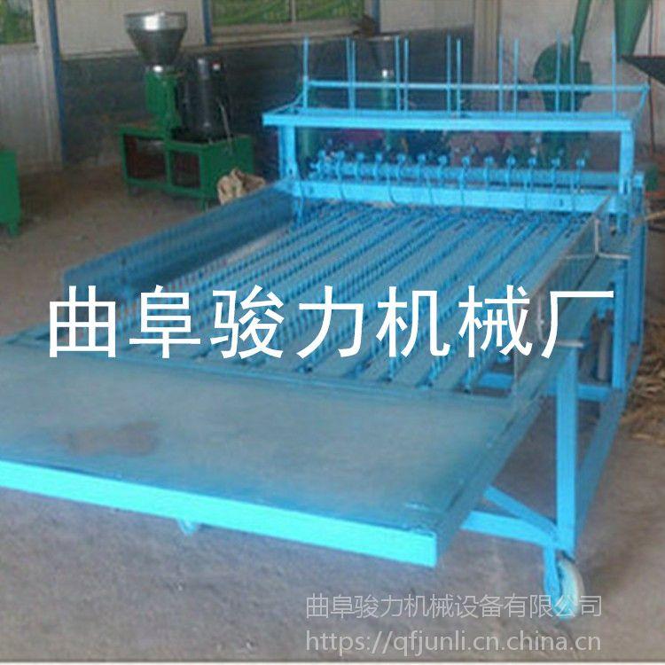骏力自产 电动草帘机 水果运输草帘子机 大棚保温编织机