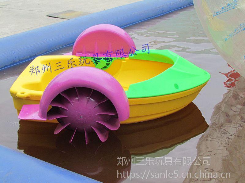 大型充气水池项目儿童游乐设备,新款充气水池项目全新的手摇船游乐项目