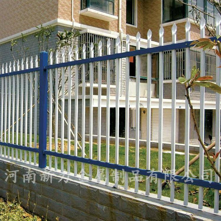 现货销售锌钢护栏 防攀爬钢材围墙围栏 锌钢隔离栏 河南新力