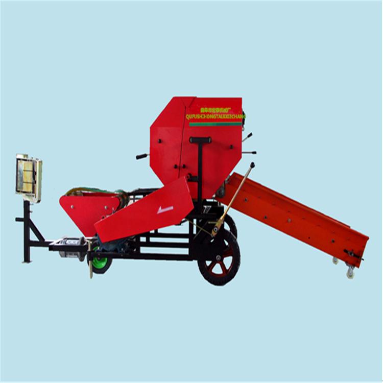 大量供应铡草揉搓机 恒丰青贮饲料打捆机 养殖专用打捆包膜机